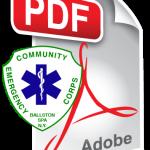 Employment Application - Community Emergency Corps - Ballston Spa, New York 12020